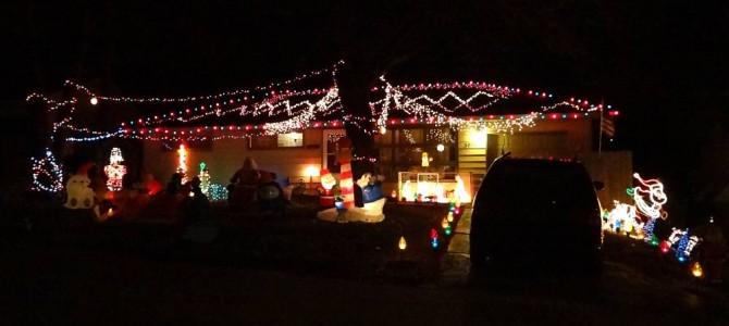 Tour de casas decoradas de Navidad